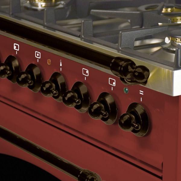 30 in. Single Oven Duel Fuel Italian Range, LP Gas, Bronze Trim