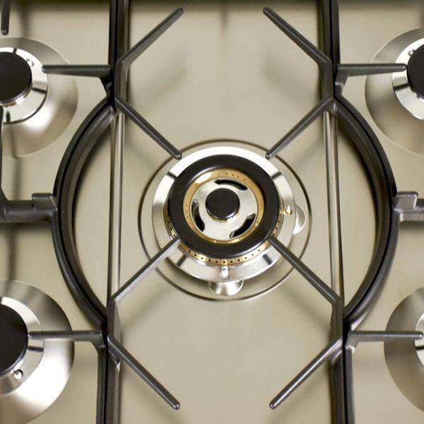 30 in. Single Oven Dual Fuel Italian Range, LP Gas, Bronze Trim