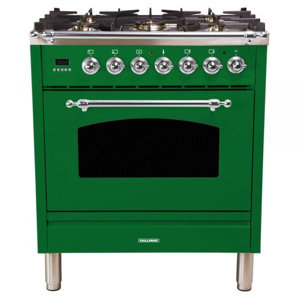 30 in. Single Oven Dual Fuel Italian Range, LP Gas, Chrome Trim