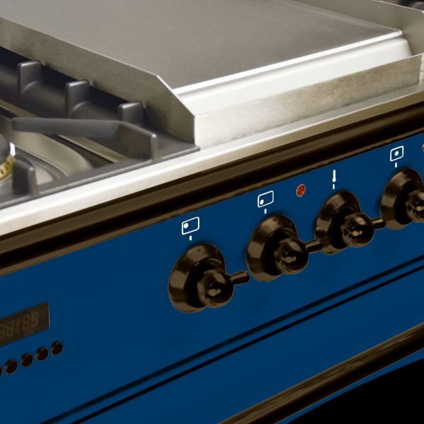 36 in. Single Oven Duel Fuel Italian Range, LP Gas, Bronze Trim