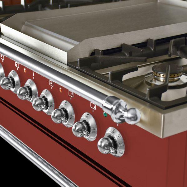 36 in. Single Oven Dual Fuel Italian Range, Chrome Trim
