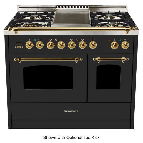 40 in. Double Oven Duel Fuel Italian Range, Brass Trim
