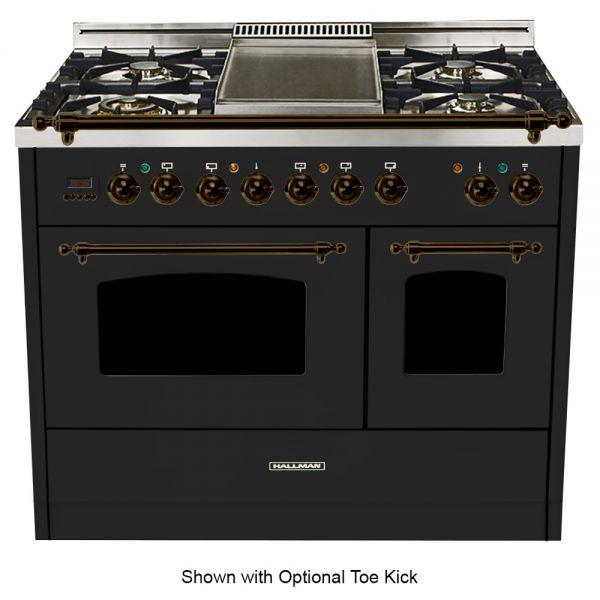 40 in. Double Oven Duel Fuel Italian Range, Bronze Trim