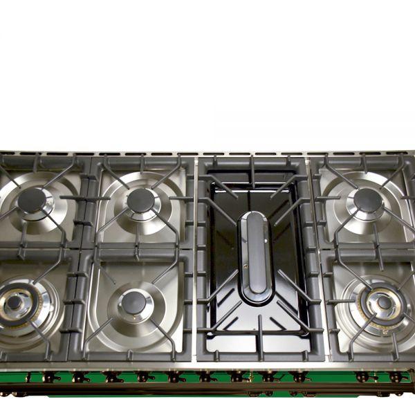 48 in. Double Oven Duel Fuel Italian Range, Bronze Trim