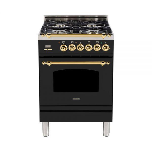 24 in. Single Oven All Gas Italian Range, LP Gas, Brass Trim