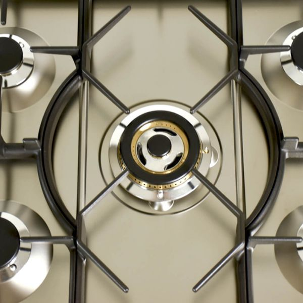 30 in. Single Oven All Gas Italian Range, Brass Trim