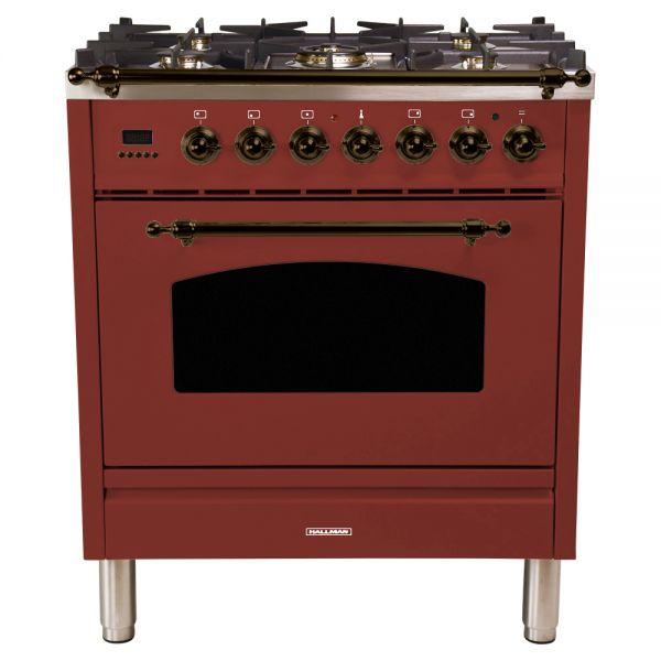 30 in. Single Oven All Gas Italian Range, LP Gas, Bronze Trim