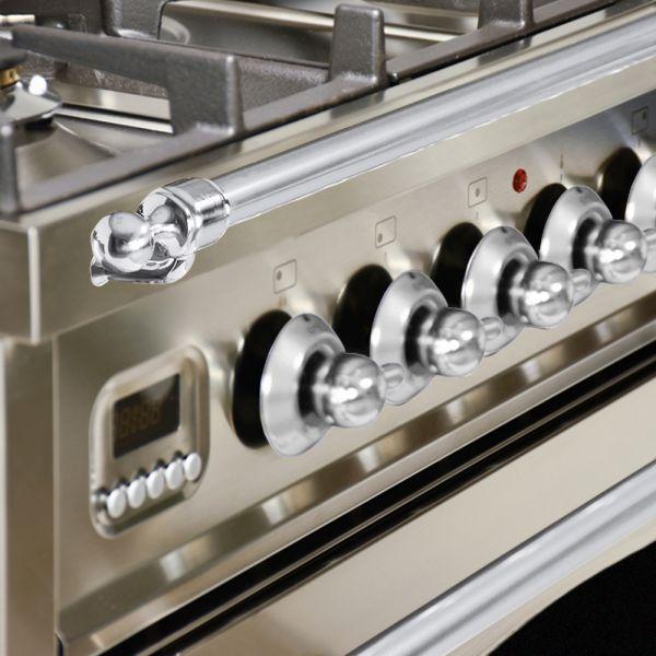 30 in. Single Oven All Gas Italian Range, LP Gas, Chrome Trim