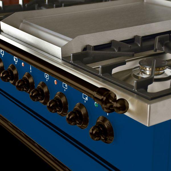36 in. Single Oven All Gas Italian Range, LP Gas, Bronze Trim