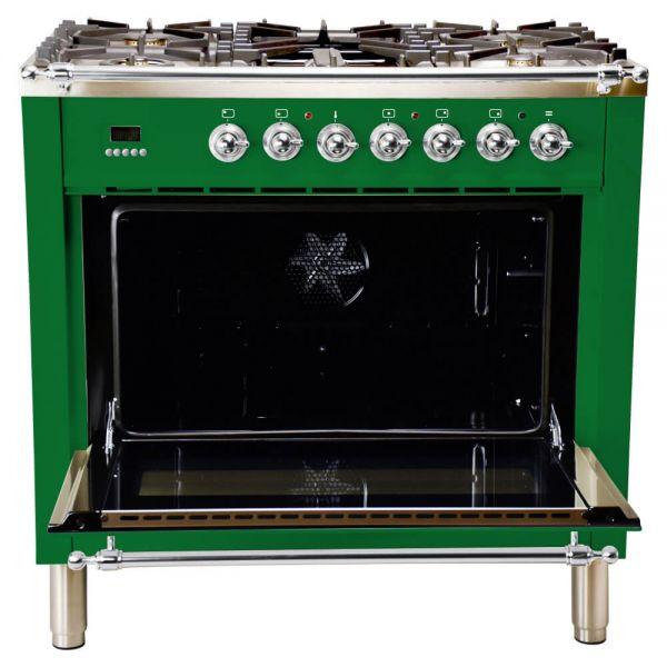 36 in. Single Oven All Gas Italian Range, Chrome Trim