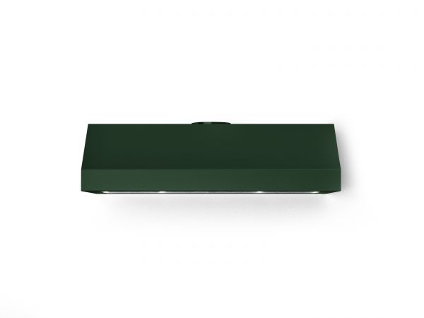 36 in. Under Cabinet Mounted Vent Hood with Lights, Emerald Green