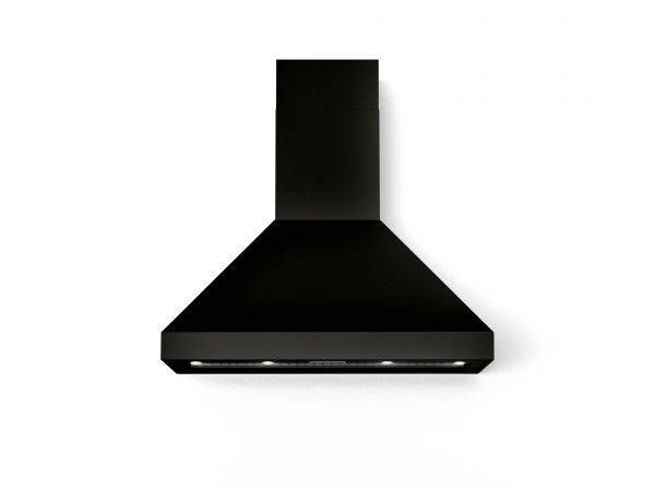 36 in. Wall Canopy Mounted Vent Hood with Lights, in Glossy Black