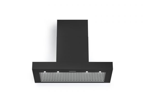 36 in. Wall T-Shape Mounted Vent Hood with Lights, in Matte Graphite